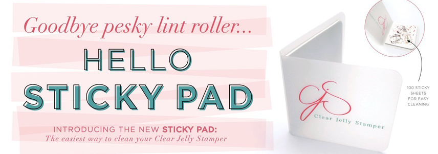 Clear Jelly Stamper Sticky Pad